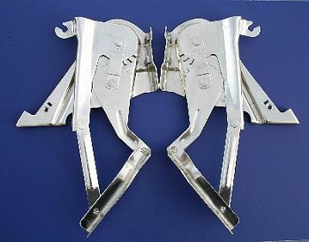 1957 Chevy Polished Stainless Steel Hood Hinges