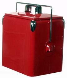 Classic Red Picnic Cooler